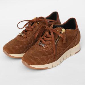 Basket-daim-fauve-La-Strada-Chaussures-Carouge