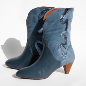 La-Strada-Chaussures-Botte-Bleu-Lavande-Collection-2021