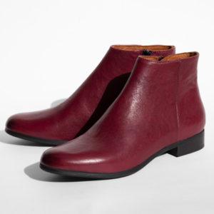 La-Strada-Chaussures-Mode-Femmes-Bottine-Cuir-Rouge