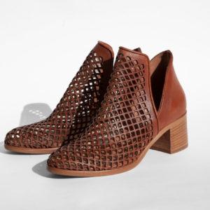La-Strada-Chaussures-Mode-Femmes-Bottine-Marron