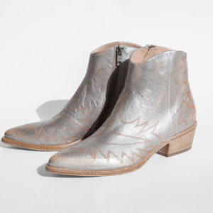La-Strada-Chaussures-Bottine-Santiag-Cuir-Argent-Collection-2021