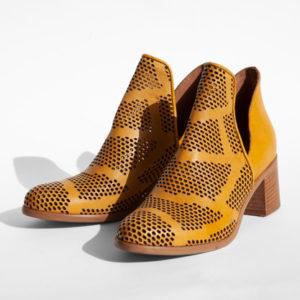 La-Strada-Chaussures-Bottine-Veau-jaune-Collection-2021