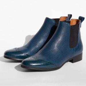 La-Strada-Chaussures-Botttine-Bleu-multi-Matiere
