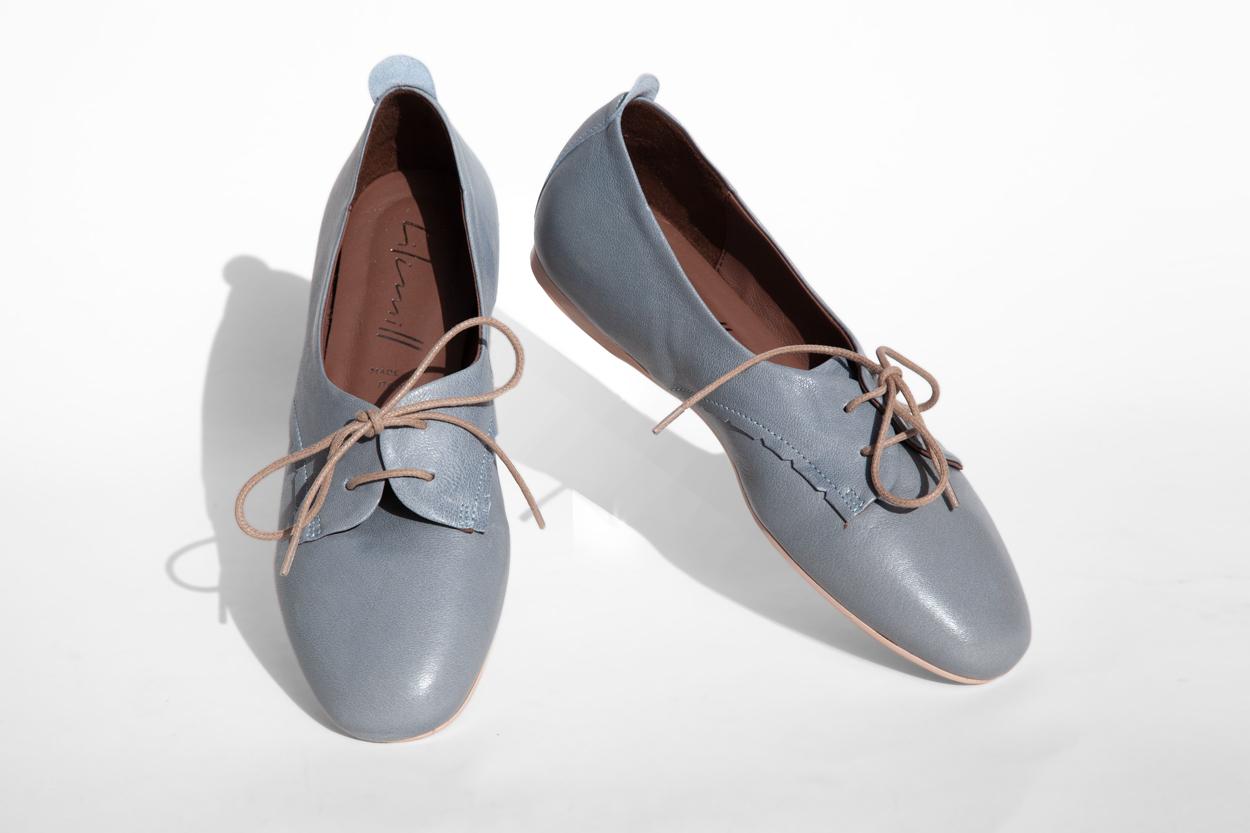 La-Strada-Chaussures-Derbie-Cuir-Bleu