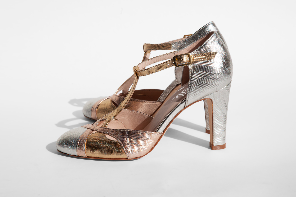La-Strada-Chaussures-Salome-cuir-argent-or-Collection-2021